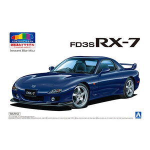 Aoshima 1/24 Mazda FD3S RX-7 1999 Blue Mica Painted Body 05498