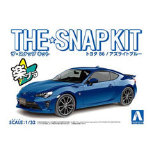 Load image into Gallery viewer, Aoshima Snap Kit 1/32 Toyota 86 Azurite Blue 05598