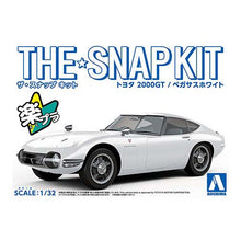 Load image into Gallery viewer, Aoshima Snap Kit 1/32 Toyota 2000GT Pegasus White 05627