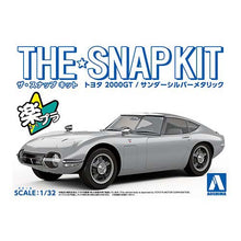 Load image into Gallery viewer, Aoshima Snap Kit 1/32 Toyota 2000GT Silver Metallic 05629