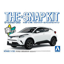 Load image into Gallery viewer, Aoshima Snap Kit 1/32 Toyota C-HR Pearl White Crystal Shine 05634