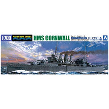 Load image into Gallery viewer, Aoshima 1/700 British Heavy Cruiser HMS Cornwall w/ Escort 05672