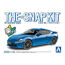 Load image into Gallery viewer, Aoshima Snap Kit 1/32 Toyota 86 (Bright Blue) 05754