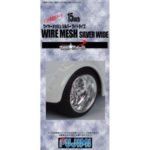 "Fujimi 1/24 Wheel Series Wire Mesh Silver Wide 15"" 192888"