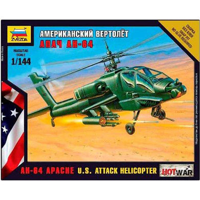 Zvezda 1/144 US AH-64 Apache Attack Helicopter 7408