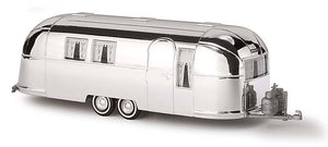 Busch 1/87 HO Airstream Aluminum Look Camping Trailer Miniature 44982