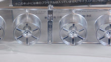 "Load image into Gallery viewer, Aoshima 1/24 Rim & Tire Set ( 46) Advan Model T6 19"" 05379"
