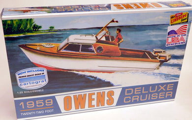 Lindberg 1/25 Owens Deluxe Cruiser Twenty-Two Foot 222 LND222