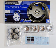"Load image into Gallery viewer, Aoshima 1/24 Rim & Tire Set ( 40)  Disix Revo 20"" 05373"