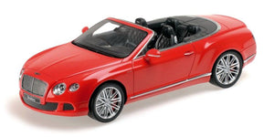 Minichamps 1/18 Bentley Continental GT Speed Convertible Red '13 RESIN 107-139330