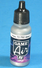 Load image into Gallery viewer, Vallejo Game Air 72.752 Silver 17ml
