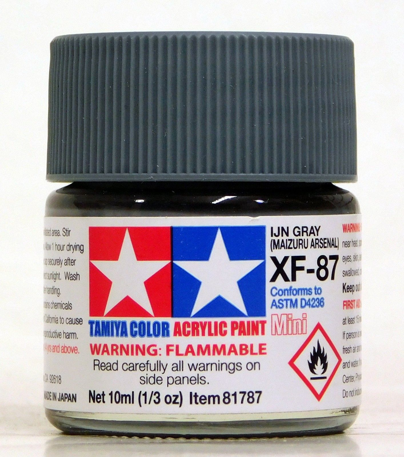 Tamiya Acrylic 10ml Mini 81787 XF-87 IJN Gray