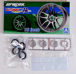 "Aoshima 1/24 Rim & Tire Set ( 22) Work Emotion CR 18""  05300"