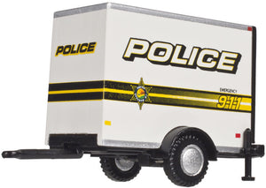 "Atlas 1/87 HO Scale Single axle Box trailer ""Police"" 60000098"