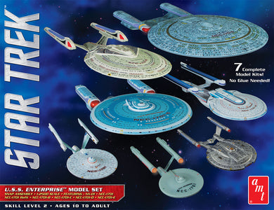 AMT Star Trek 1/2500 USS Enterprise 7 Piece Model Kit Set AMT954