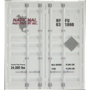 Micro-Trains MTL N National Fast Freight 53' Corrugated Container  46900102