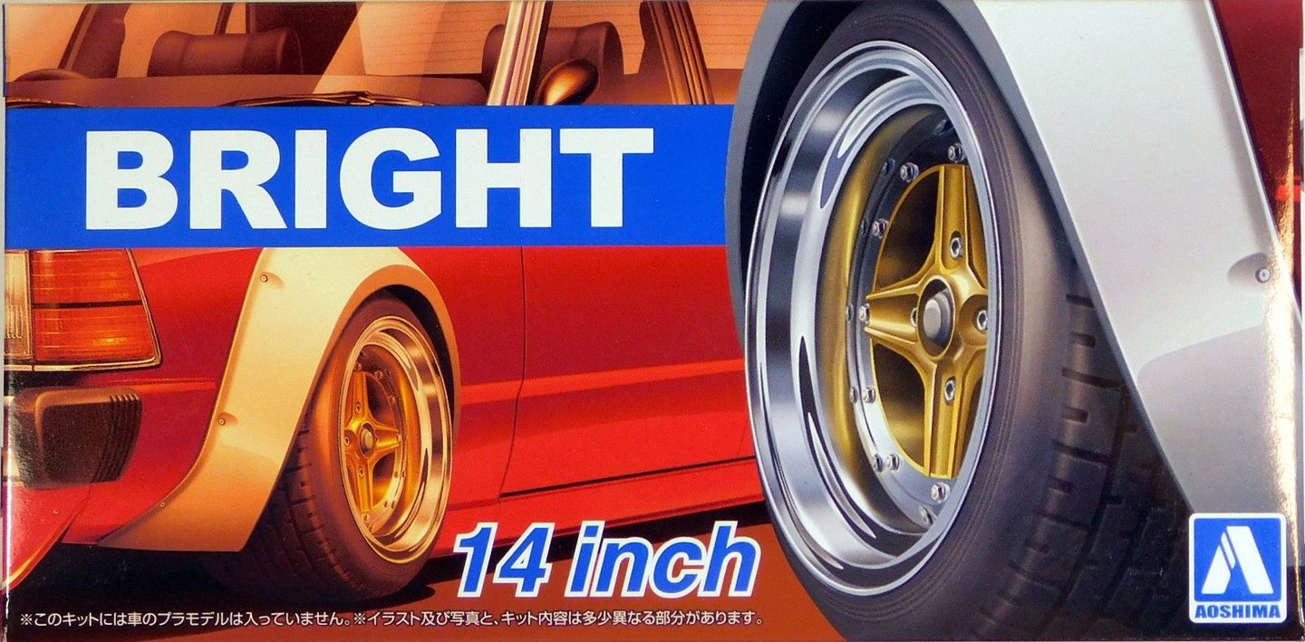Aoshima 1/24 Rim & Tire Set ( 79) Bright 14