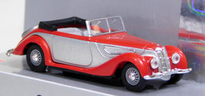 Busch 1/87 HO BMW 327 Cabrio Top Down Red/Silver 40282