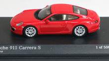 Load image into Gallery viewer, Minichamps 1/87 HO Porsche 911 (991) Carrera S 2011 (RED) 877060220