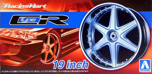 "Aoshima 1/24 Rim & Tire Set ( 60) Racing Hart Type CR 19"" 05393"