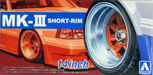 "Load image into Gallery viewer, Aoshima 1/24 Rim & Tire Set ( 89) MK-III short-rim 14"" 5545"