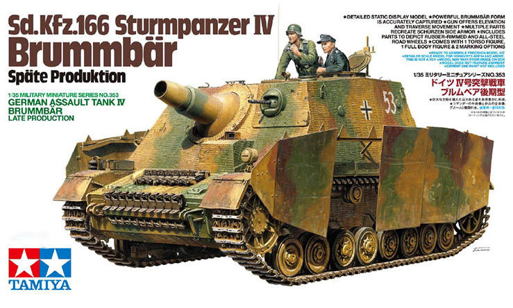 Tamiya 1/35 German Strumpanzer IV Brummbar Late Production 35353