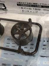 "Load image into Gallery viewer, Aoshima 1/24 Rim & TIre Set ( 57) Ray's Volk Racing 19"" TE37 05390"
