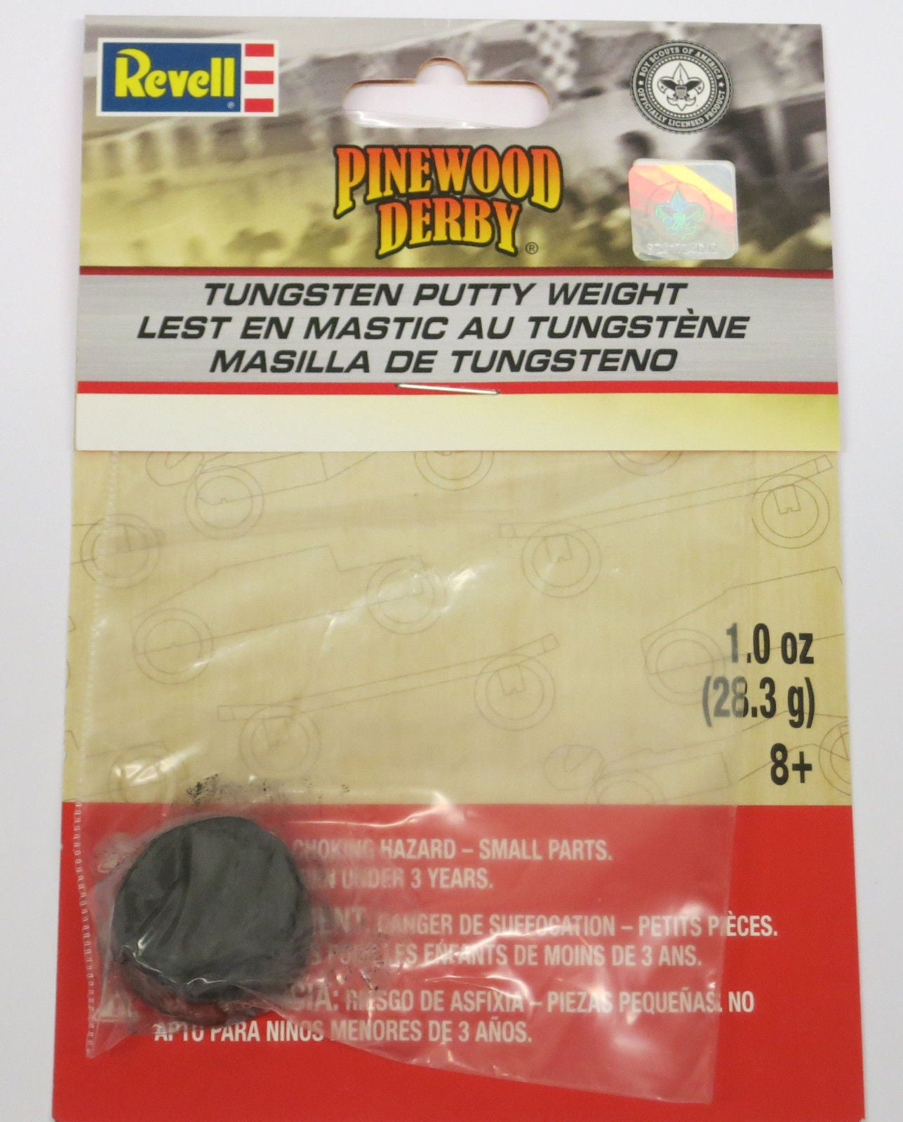 Revell Pinecar Pinewood Derby Tungsten Putty 1 oz RMXY9428