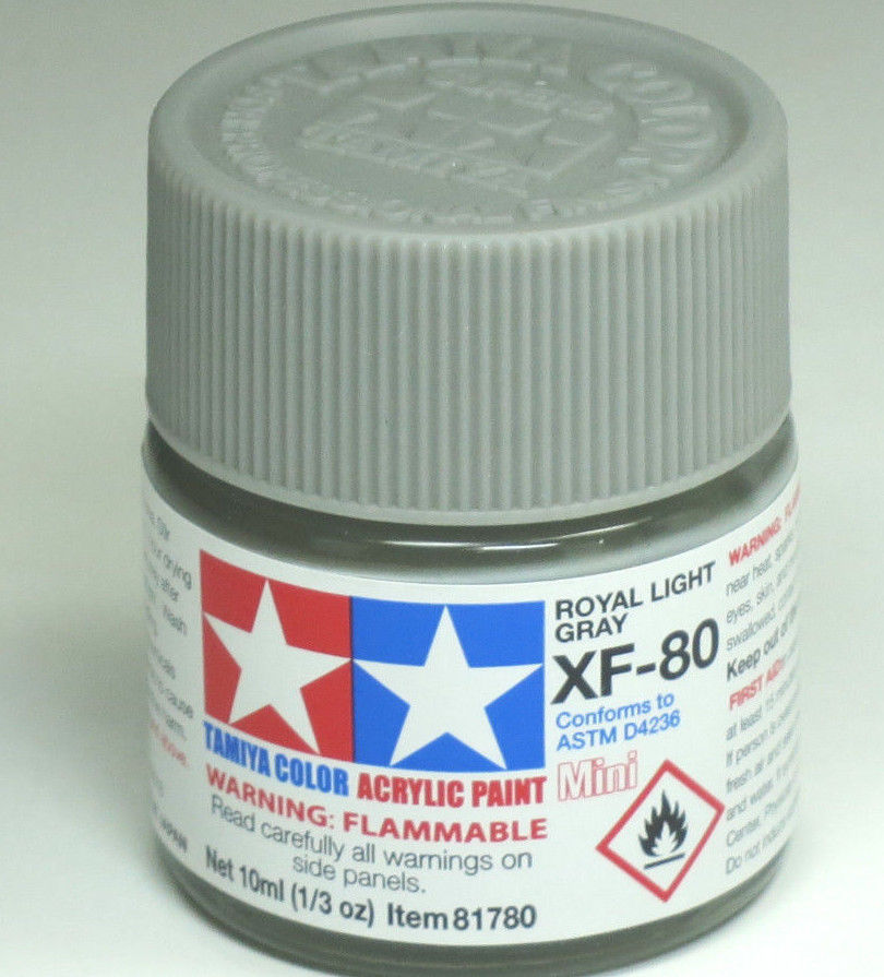Tamiya Acrylic 10ml Mini 81780 XF-80 British Navy Gray