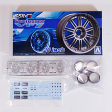 "Load image into Gallery viewer, Aoshima 1/24 Rim & Tire Set ( 27) SSR Professor VF1 20""  05277"