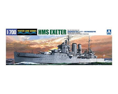Aoshima 1/700 HMS Heavy Cruiser Exeter w/ Corvettes and PE 05272