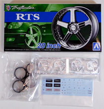 "Load image into Gallery viewer, Aoshima 1/24 Rim & Tire Set ( 37) Trafficstar RTS 20"" 05370"