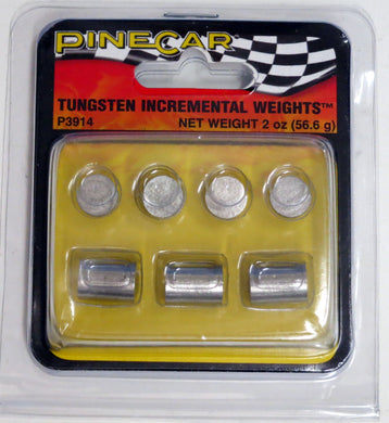 Pinecar P3914 Pinewood Derby Tungsten Incremental Cylinder Weights 2oz