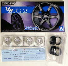 "Load image into Gallery viewer, Aoshima 1/24 Rim & Tire Set ( 83) VOLK Racing VR.G2 20"" 5517"