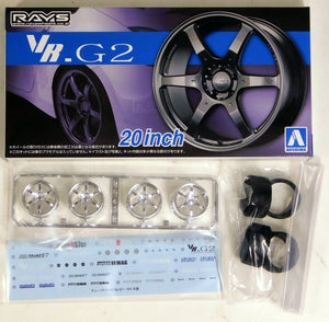 "Aoshima 1/24 Rim & Tire Set ( 83) VOLK Racing VR.G2 20"" 5517"
