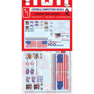 AMT 1/25 Custom Competition Decals American Pride Graphics MKA027