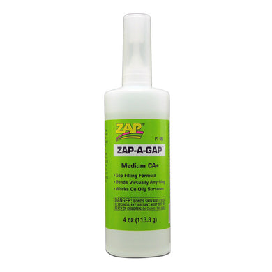 Pacer PT05 Zap-A-Gap CA+ Cyanoacrylate Super Glue 4 oz