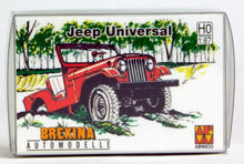 Load image into Gallery viewer, Brekina 1/87 HO 1945 -1980 Jeep Universal (White) Arwico 58902