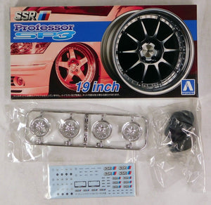 "Aoshima 1/24 Rim & Tire Set ( 15) SSR Professor 19"" SP3 05254"