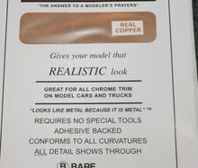 "Load image into Gallery viewer, Bare Metal Foil BMF017 Real Copper 11"" x 6"""