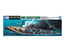 Load image into Gallery viewer, Aoshima 1/700 HMS Heavy Cruiser Dorsetshire Spec. Ed. w/ IJN Aircraft 05266