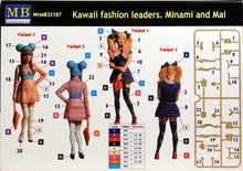 Load image into Gallery viewer, Master Box 1/35 Kawaii Fashion Leaders. Minami & Mai 35187