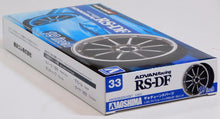 "Load image into Gallery viewer, Aoshima 1/24 Rim & Tire Set ( 33) Advan Racing RS-DF 19"" 05328"