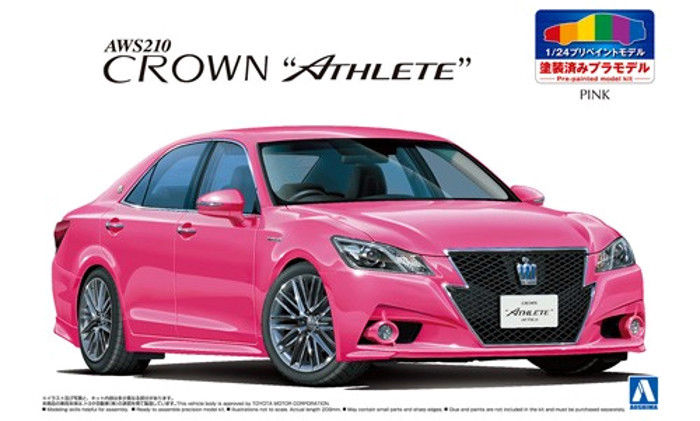 Aoshima 1/24 Pre Painted Toyota Crown Athlete Lexus GS GRS214 Pink 05404