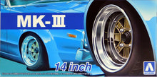 "Load image into Gallery viewer, Aoshima 1/24 Rim & Tire Set ( 56) MK-III 14"" 05389"