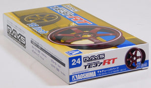 "Aoshima 1/24 Rim & Tire Set ( 24) Volk Racing TE37RT 18"" 05302"