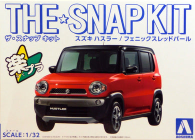 Aoshima Snap Kit 1/32 Suzuki Hustler Red 05414