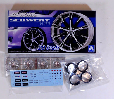 Aoshima 1/24 Rim & Tire Set ( 26) Work Schwert SC4 20