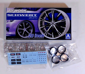 "Aoshima 1/24 Rim & Tire Set ( 26) Work Schwert SC4 20"" 05276"