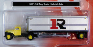 Classic Metal 1/87 HO Chevy Tractor/Trailer Set 1941/46 Ryder 31167